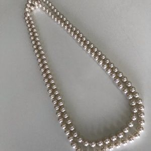 """Faux Pearl 30"""" necklace"""